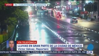 Lluvia acompañada de granizo afectan delegaciones de la CDMX
