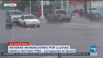 Lluvias Anegan Caminos En Sonora Transporte Mercancías