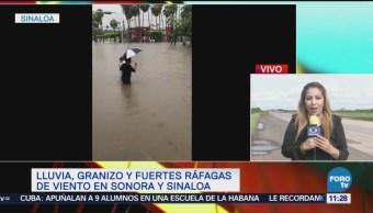 Lluvias dejan inundaciones en municipios de Sinaloa