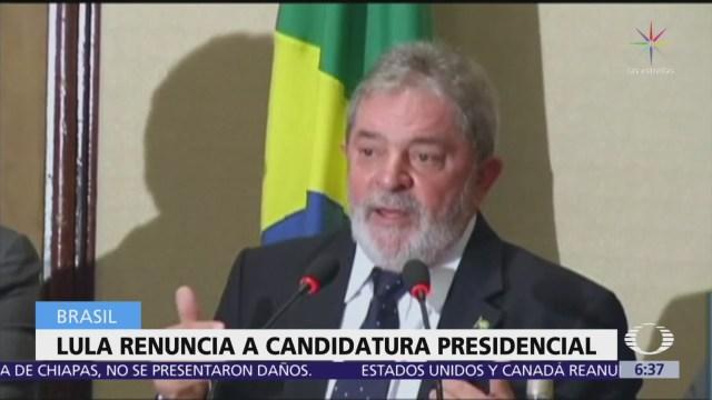 Lula da Silva renuncia a su candidatura presidencial