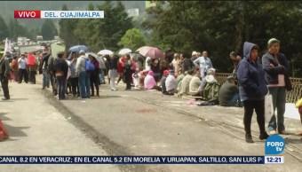 Manifestantes bloquean carretera federal México-Toluca
