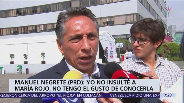 Manuel Negrete niega insultos a María Rojo durante campaña