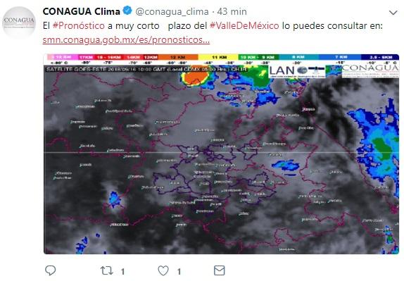 Lluvias hoy en CDMX y cielo nublado pronostican este domingo