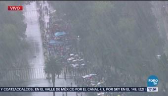 Marchan Por Ayotzinapa Pese Precipitaciones CDMX