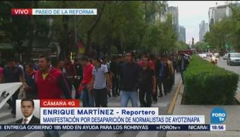 Marchan Por Desaparición De Normalistas De Ayotzinapa