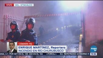 Incendio En Centro Comercial En Río Churubusco