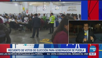 Recuento Votos Elección Gubernatura Gobernador Puebla