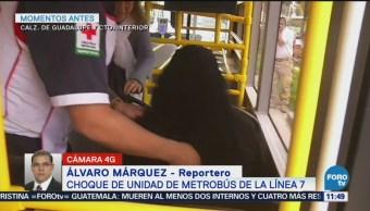 Metrobús Choca Contra Auto Calzada Guadalupe