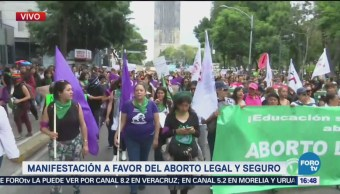Mujeres Favor Aborto Legal Marchan Avenida Juárez