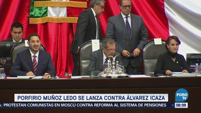 Muñoz Ledo le recuerda a Álvarez Icaza que no es independiente