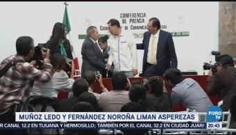 Muñoz Ledo y Fernández Noroña liman asperezas