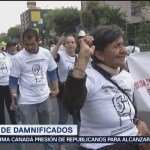 Organizaciones de damnificados marchan lento sobre Tlalpan