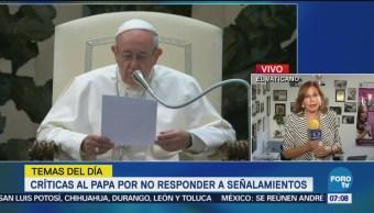 Papa Francisco recibe críticas por no responder a abusos sexuales de cardenal