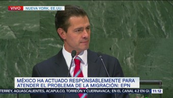 Peña Nieto dirige mensaje a la Asamblea General de la ONU
