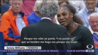 Penalizan a la tenista Serena Williams por llamar ratero a árbitro