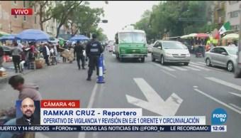 Policía CDMX realiza operativo en la avenida Circunvalación