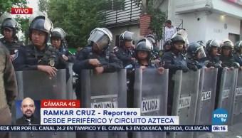 Policía encapsula manifestantes en Periférico Sur