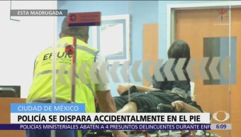 Policía se lesiona con su arma en la colonia CTM Culhuacán