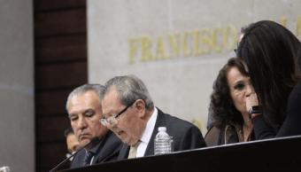 Muñoz Ledo y Fernández Noroña empiezan con pleito la sesión