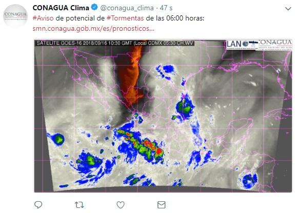 Lluvias hoy en México afectarán el noreste y suroeste