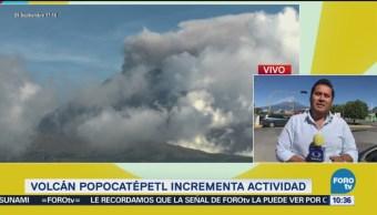 Volcán Popocatépetl Incrementa Actividad