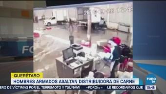 Hombres Armados Asaltan Distribuidora Carne Querétaro
