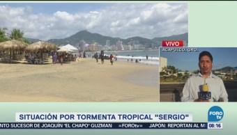 situación tormenta tropical sergio acapulco