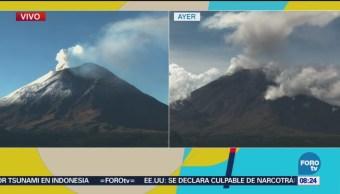 Semáforo Alerta Volcánica Permanece Amarillo Fase 2 Popocatépetl