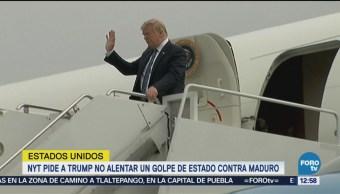'Quédese fuera de Venezuela, señor Trump': NYT