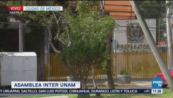 Realizan Asamblea Interunam Prepa 5 UNAM