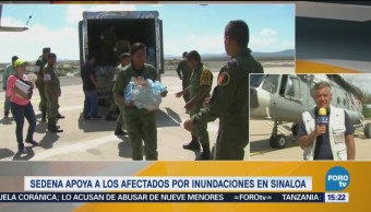 Realizan Puente Aéreo Apoyar Población Damnificada Sinaloa