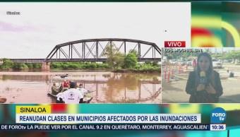 Reanudan clases en municipios de Sinaloa