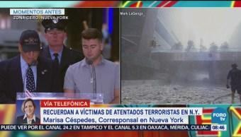 Recuerdan a víctimas de atentados terroristas en Nueva York