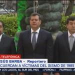 Recuerdan a víctimas de sismos en Plaza Solidaridad