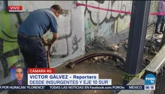 Registran fuga de agua en Av. Río Magdalena e Insurgentes