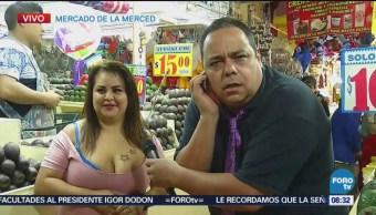 Repor entrevista vendedora de aguacate en La Merced