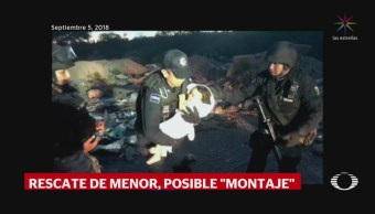 Rescate de Mya Fernanda por la PF fue un montaje