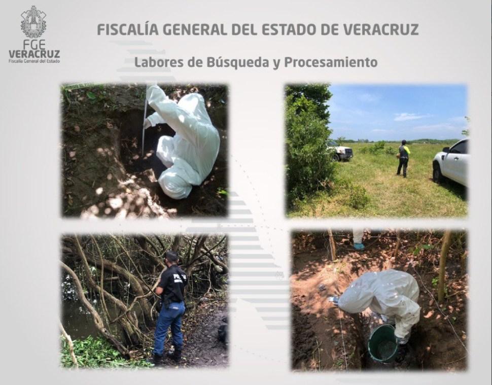Fosa clandestina en Veracruz; hallan restos de 166 personas