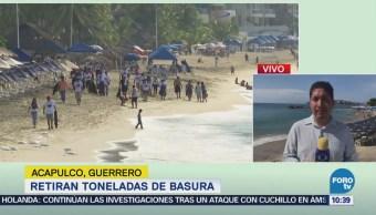 Retiran toneladas de basura en Acapulco