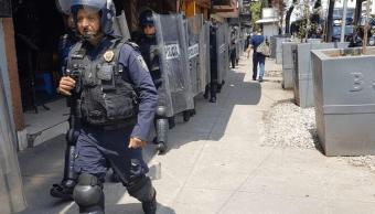 comerciantes enfrentan policias colonia portales riña