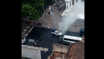 encapuchados incendian patrulla hemiciclo juarez ssp