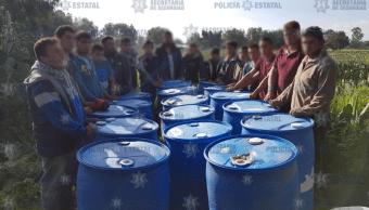 estado mexico detiene presuntos huachicoleros secretaria