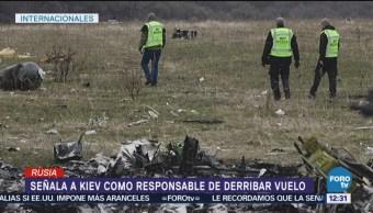 Rusia acusa a Ucrania de derribo del vuelo MH17