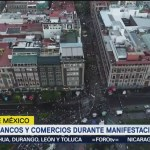 Saldo Blanco En Marcha Estudiantil Silencio Zócalo