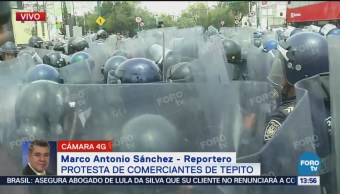 Desatan Disturbios Durante Protesta Comerciantes Tepito