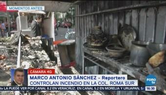 Se Incendia Puesto Tacos Afuera Metro Chilpancingo