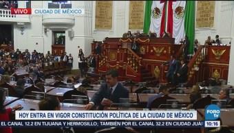 Se instala primer Congreso CDMX y entra vigor Constitución