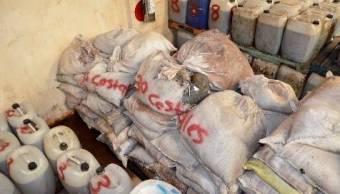 PGR incinera 14 toneladas de sustancias para drogas en Sonora