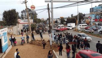 Sindicato Libertad, que agrupa a transportistas, realiza bloqueos en Oaxaca