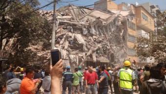 Sismo 19S, caída de edificios en CDMX